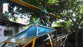 (А) Самодельный вертолёт /  Homemade Helicopter