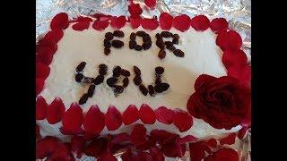 Celebrating 2 year Anniversary  || orange cake ||