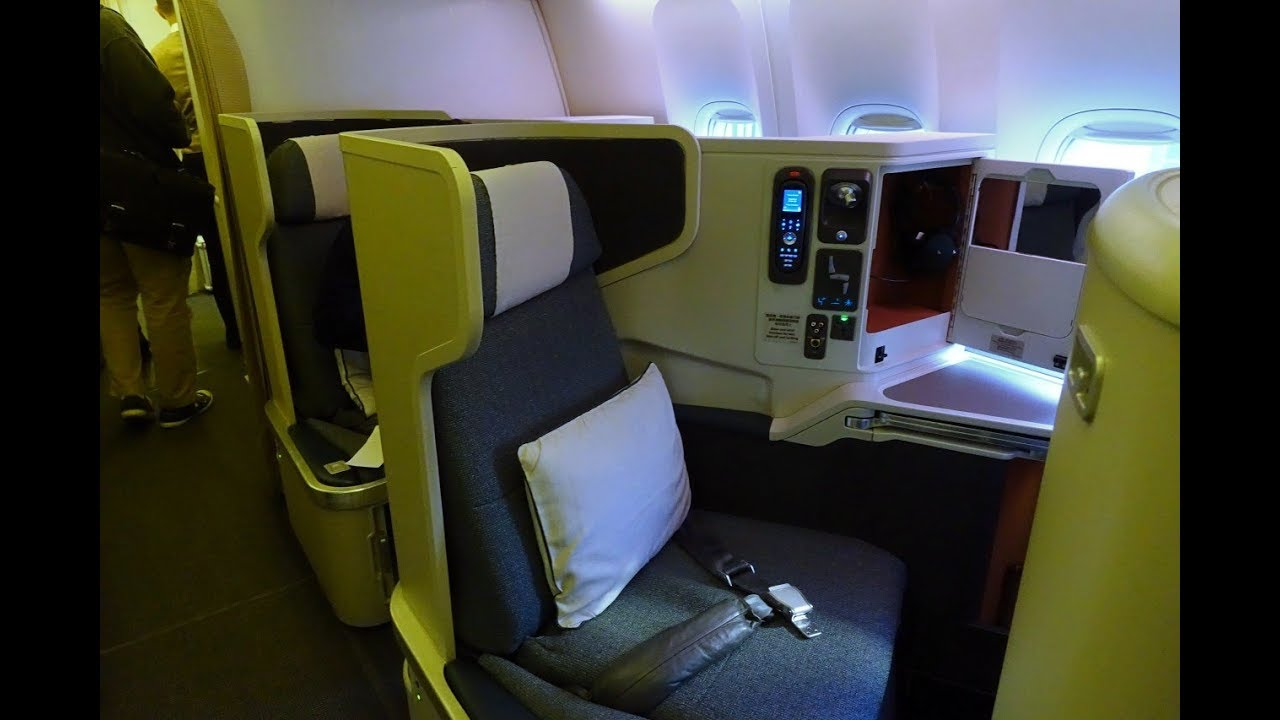 cathay pacific new business class interior classes Review: Cathay Pacific Business Class, 777-300ER