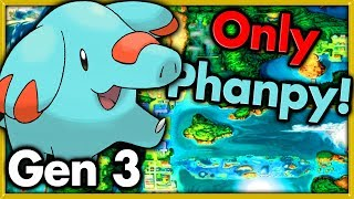 Can I Beat Pokemon Emerald with ONLY PHANPY? 🔴 Pokemon Challenges ► NO ITEMS IN BATTLE