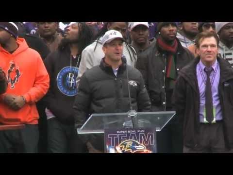 Watch The Baltimore Ravens Celebrate Super Bowl Win In M&T Bank Stadium