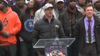 Watch The Baltimore Ravens Celebrate Super Bowl Win In M&T Bank Stadium