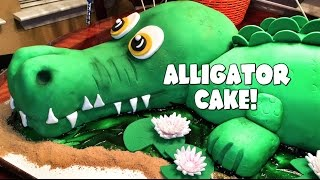 LIFE-SIZED ALLIGATOR CAKE!
