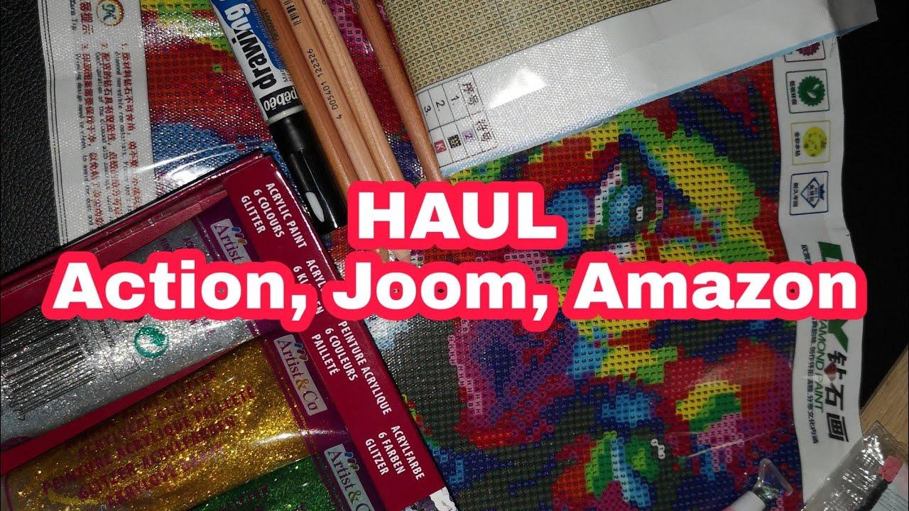 Haul Action Joom Et Amazon Diamond Painting Et Coloriages Youtube