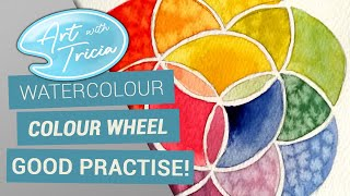 Watercolour Colour Wheel