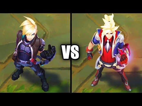 PsyOps Ezreal vs Legendary Battle Academia Ezreal Skins Comparison (League of Legends)