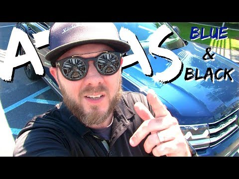 2018 VW ATLAS - SEL | Blue with Black 20in Rims | Pricing plus Audio System with In Depth Review