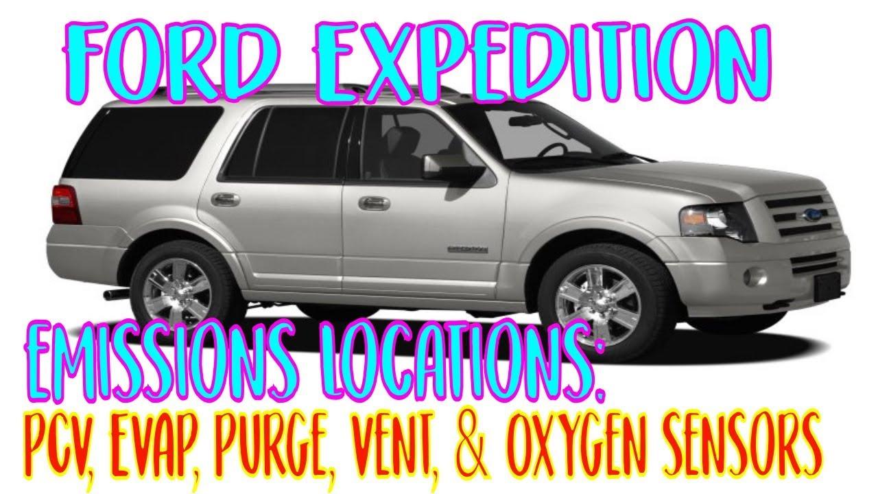 Ford Expedition Pcv Evap Purge Vent Oxygen Sensors Youtube 98 Explorer O2 Sensor Location