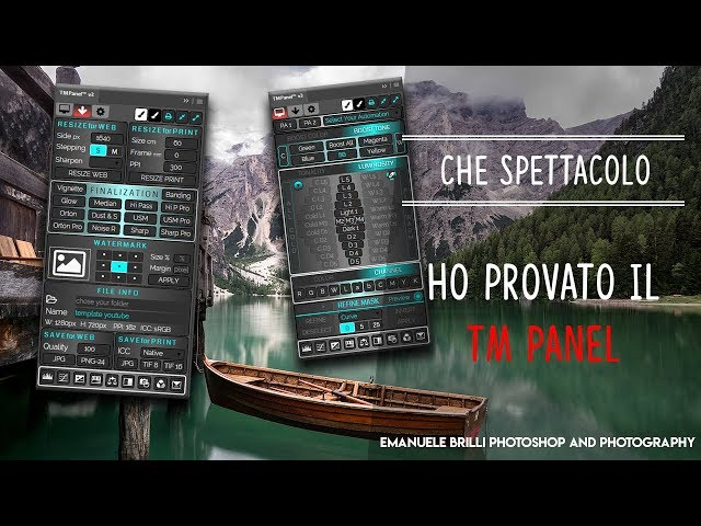 Che spettacolo il TM PANEL di Gaspare Silverii - Tutorial Photoshop