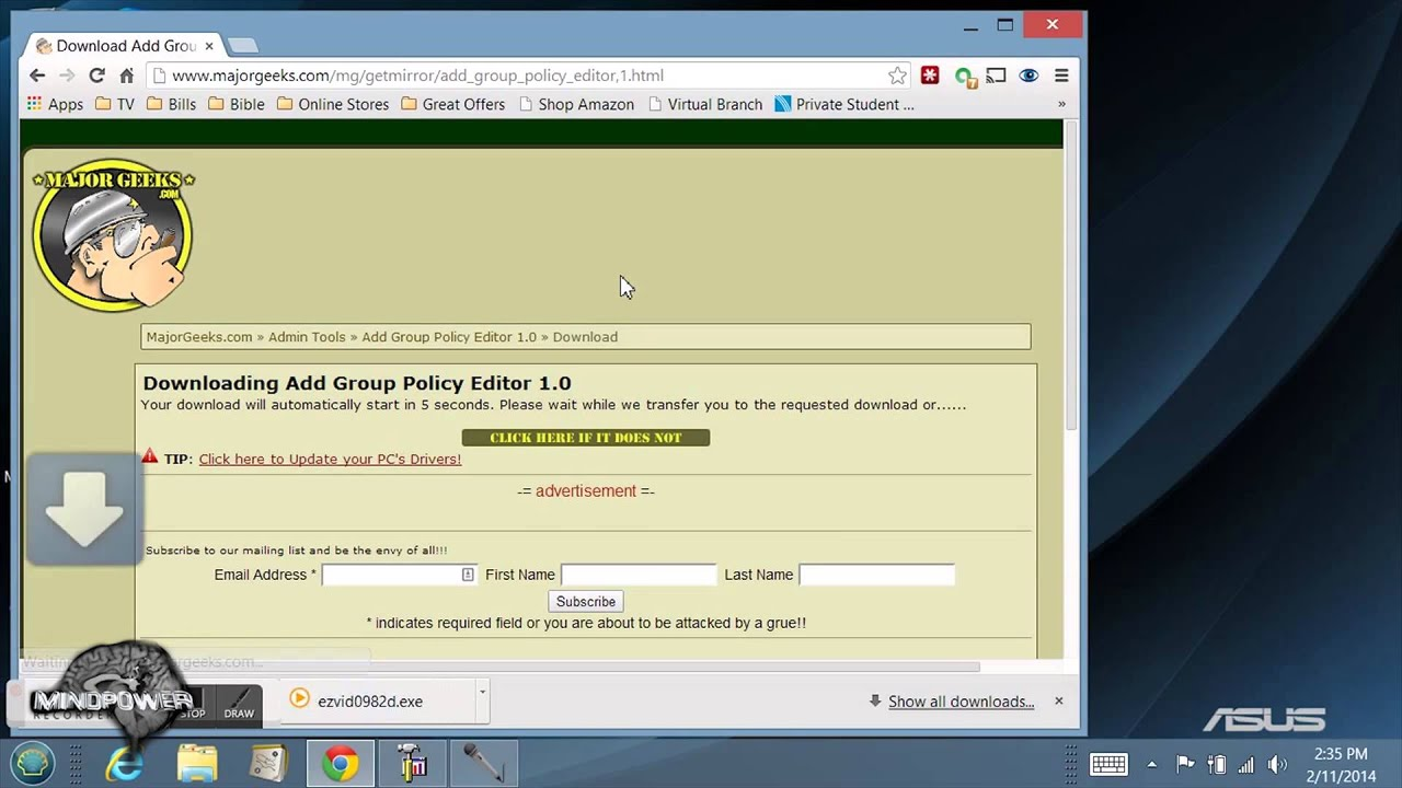 Windows 7 open local group policy editor - How To Add Gpedit Group Policy Editor To Windows 10 8 Or 7 Home Basic Or Premium Mindpower009