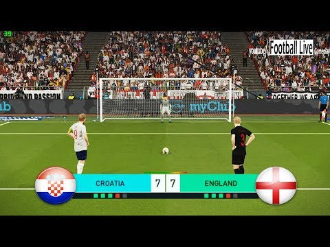 PES 2018 | CROATIA vs ENGLAND | Penalty Shootout | Kane vs Modric | Gameplay PC