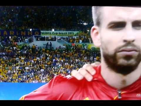 Spain vs Brazil ~6-30-2013 Confederation Cup. Spain National Anthem