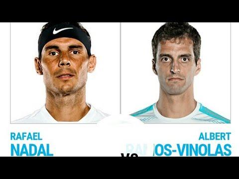 Rafael NADAL VS Albert Ramos VINOLAS ATP TENNIS