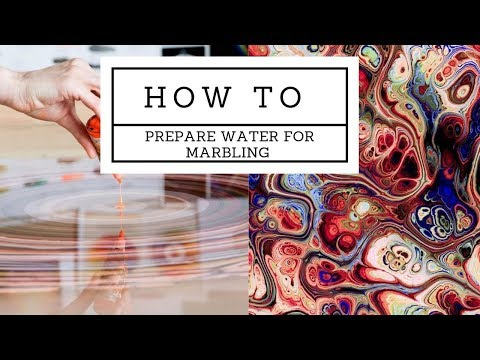 How to thicken water for EBRU Marbling (turkish style marbling)