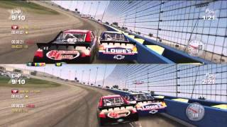 NASCAR The Game 2011 Split-Screen Race at Auto Club