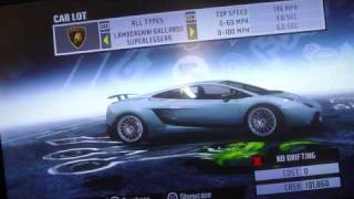 NFS prostreet secret cars (PS3)