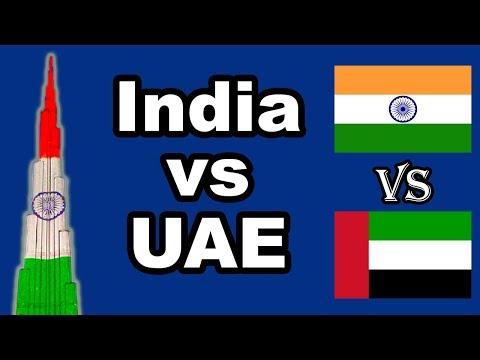 Life in India vs United Arab Emirates (2018)
