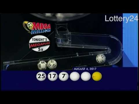 2017 08 04 Mega Millions Numbers and draw results