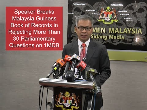 Parliament Speaker Breaks Malaysia Guinness Book of Records