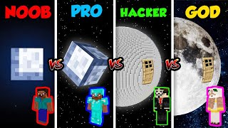 Minecraft NOOB vs. PRO vs. HACKER vs. GOD: MOON BASE in Minecraft! (Animation)