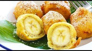 Жареный банан в пряном кляре - десерт / рецепт от шеф-повара / Илья Лазерсон / Мировой повар