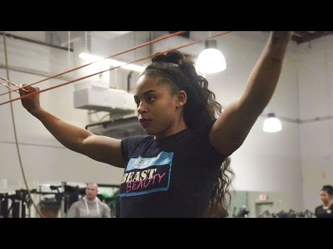 Bianca Blair devours the field at the WWE Performance Center Combine