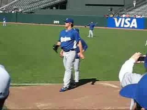 2008-08-09 Giants Game Dodgers Practice Clayton Ke...