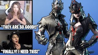 STREAMERS Reacts TO *NEW* Spider Knight & Arachne Skins.. *LEGENDARY* (Fortnite Moments)