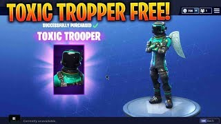 *NEW* Fortnite HOW TO GET THE TOXIC TROPPER/HAZARD AGENT SKIN FOR FREE! (Battle Royale)