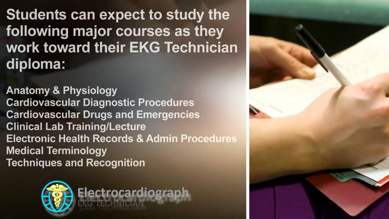Ekg Technician Program Coursework Ekgprogram Youtube