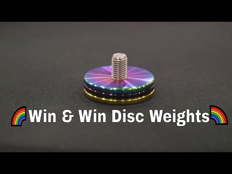 Win And Win Disc Weights Black, Gold, And Rainbow🌈 ATA Show 2019