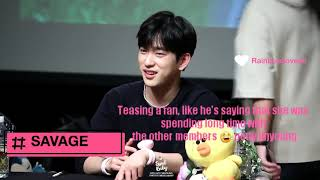 GOT7 (갓세븐) JINYOUNG Being SAVAGE & SWEET With FANS