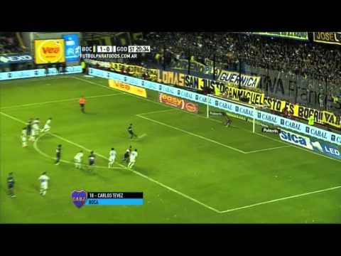 Godoy Cruz la pasó mal ante Boca, que ganó 2 a 0 en La Bombonera