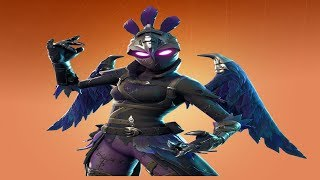 Fortnite - Ravage Skin Showcase(Female Raven) + Iron Beak Pickaxe & Contrail