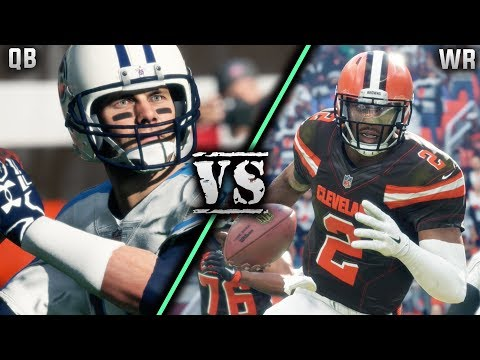Can a team of QB's beat a team of WR's? Madden 18 Best Position Tournament Game 1