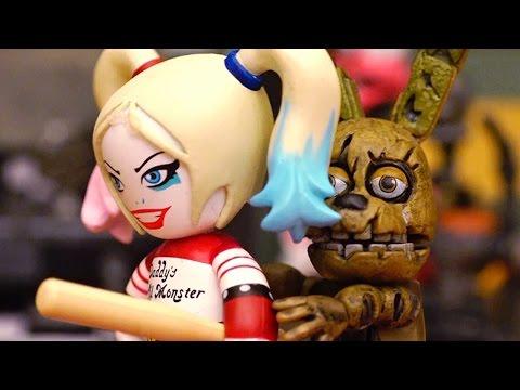 Five Nights at Freddy's & Suicide Squad Toys & Dolls - FNAF Stories w/ Harley Quinn, Joker, DeadShot