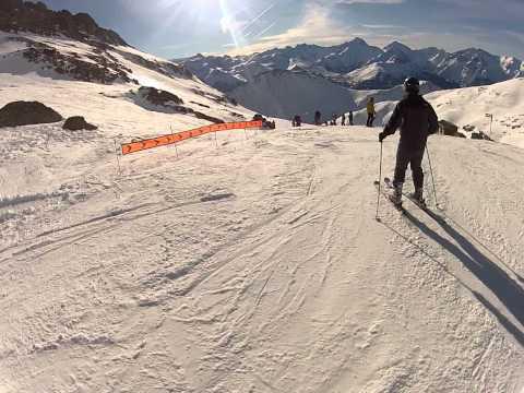 Alpe d'Huez Skiing 16km Black run Sarenne