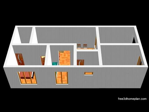 Small House Design Plan 8 X 13m 2 Bedroom With American Kitchen 2020