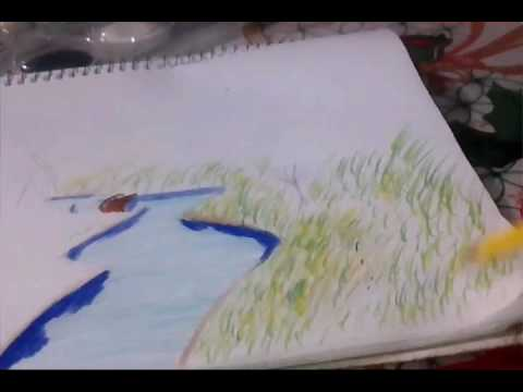 Tutorial Como Dibujar Una Pradera A Color Youtube