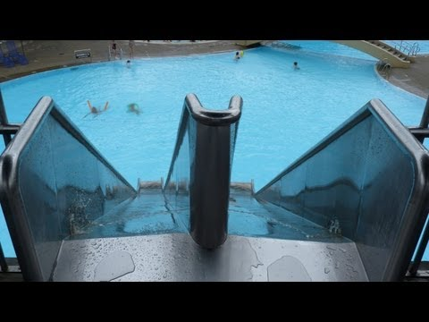 Badkap Albstadt - Peitschenrutsche (Doppelrutsche) im Freibad