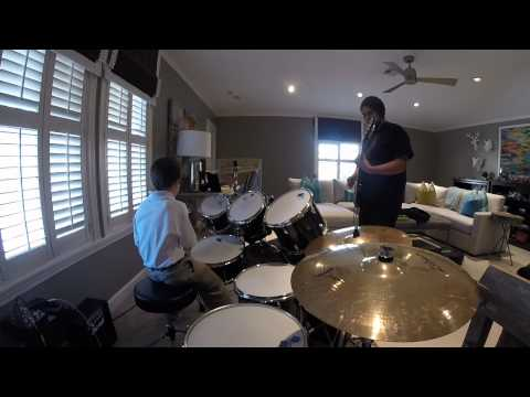 Ladin drum lesson with guitar.