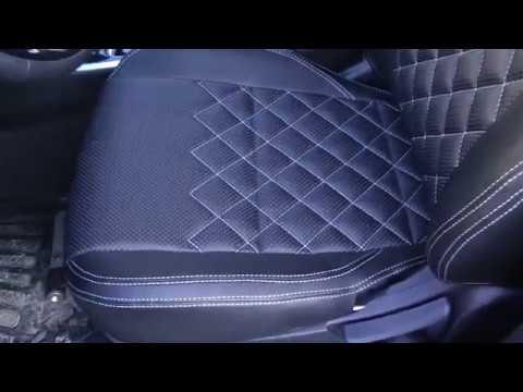 Авточехлы из экокожи для Мицубиси Аутлендер 3 поколение 3 рестайлинг  Ромб  Установка