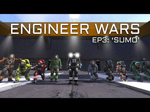 Space Engineers - ENGINEER WARS #3 - 'SUMO' 5v5 Build-Off Battle (BOMB Squad v BDtW)