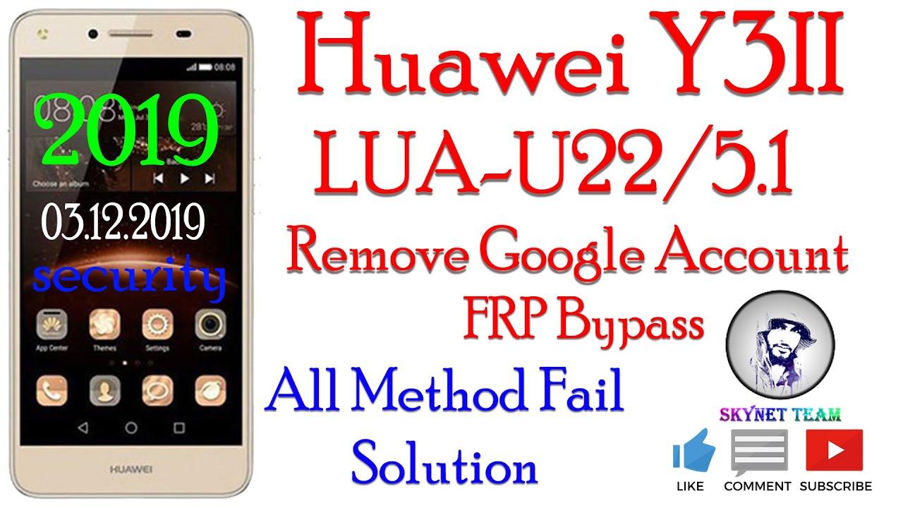 Huawei Lua U22 Frp Google Account Bypass New Method 2019