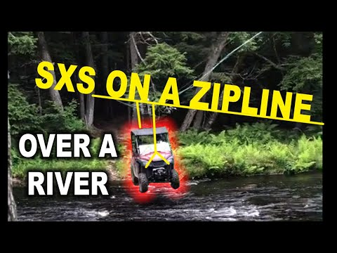 Honda Pioneer 500 takes the ZipLine across the river!