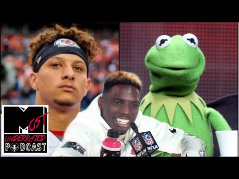 tyreek-hill-roasts-patrick-mahomes-for-his-frog-voice!-best-super-bowl-questions-from-media-night!