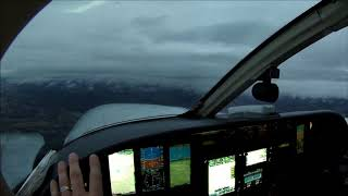 Night IFR approach in Cessna 421 to 300 above minimums going into Gatlinburg