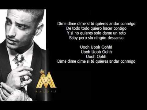 Maluma - Sin Contrato (letra)