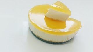 #Orange cream cheese cake || no bake cake
