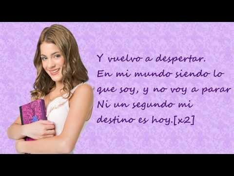 Violetta. En mi mundo (Spanish Version. Versión Española) Martina Stoessel. Lyrics.